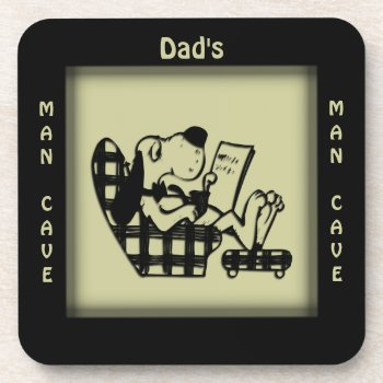 Dad's Man Cave Olive Square Coasters