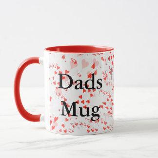 Dads Mug, Red Poker Cards,_Red Combo Coffee Mug