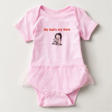 merydesigns dad's my hero baby bodysuit
