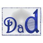 Dad's Name (photo frame) Greeting Card