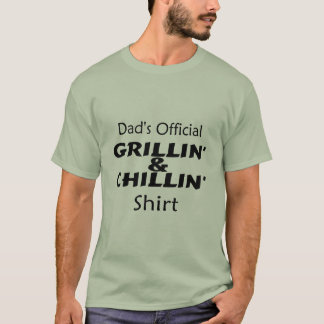 Dads Official Chillin and Grillin Shirt Black