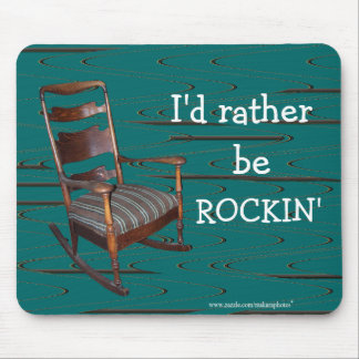 Dad's Ol Rocker Mousepad-customize any occasion