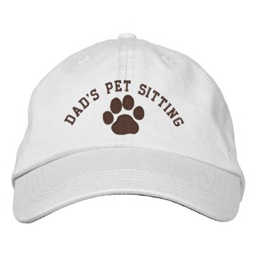 Dad's Pet Sitting Embroidered Baseball Hat
