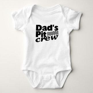 Dad's Pit Crew Baby Bodysuit