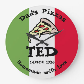 Dad's Pizzas Large Clock
