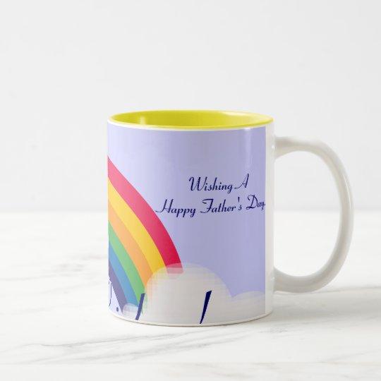 Dad's Rainbow!-Customize Two-Tone Coffee Mug