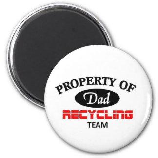 Dads Recycling Team 2 Inch Round Magnet