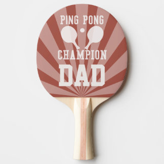 Dad's Red Ping Pong Champion Paddle Ping-Pong Paddle