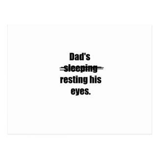 Dad's resting his eyes postcard
