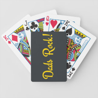 Dads Rock! Bicycle Playing Cards