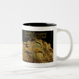 Dad's Rock-Solid Black Mug