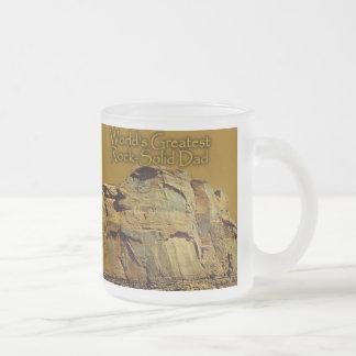 Dad's Rock-Solid Gold Beer Stein Coffee Mug