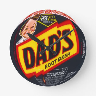 Dad's Root Beer Round Wall Clock