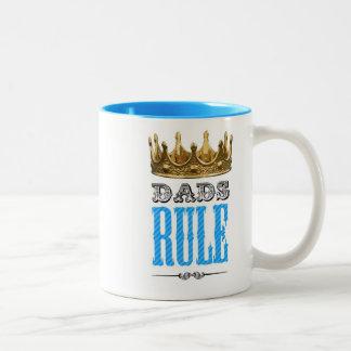 Dads RULE - Father´s Day Two-Tone Coffee Mug