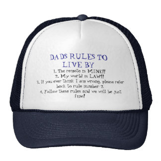 Dads Rules Trucker Hat