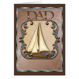 Dads Sailing Boat Greeting Card