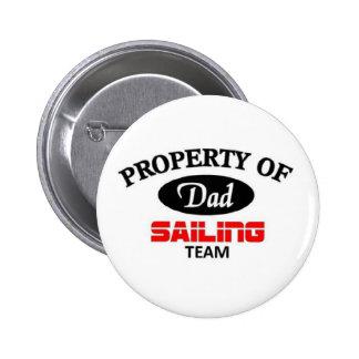 Dads sailing team 2 inch round button