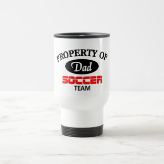 Dads soccer team travel mug