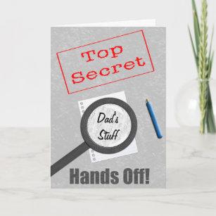 Dad's Stuff Top Secret Card