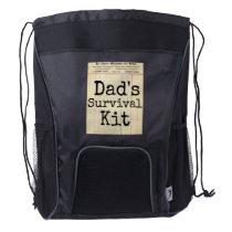 """""""Dad's Survival Kit"""" Back Pack Diaper Bag"""
