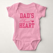 Dad's Sweetheart Baby Bodysuit