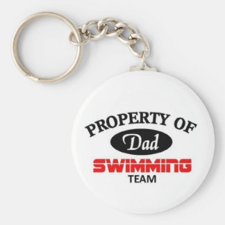 Dads swimming team keychain