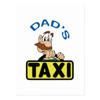 DADS TAXI POSTCARD