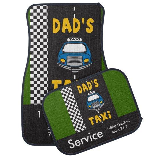 Dad's Taxi Service Car Mat