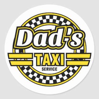 Dad's Taxi Service - Funny Stickers for Dad's Car