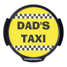 Dad's Taxi Service Led Window Decal at Zazzle