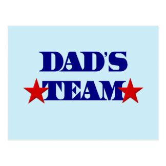 Dad's Team Postcard