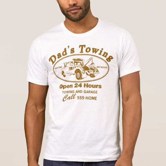 DAD'S TOWING SERVICE DISTRESSED SHIRT