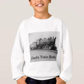 Dad's Train Buddy Vintage Steam Engine Sweatshirt