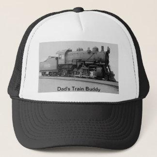 Dad's Train Buddy Vintage Steam Engine Trucker Hat