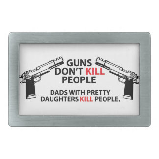 Dads with pretty daughters rectangular belt buckle