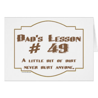 Dad's words of wisdom on Father's Day gifts. Card