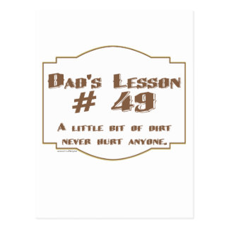 Dad's words of wisdom on Father's Day gifts. Post Cards