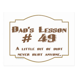 Dad's words of wisdom on Father's Day gifts. Postcard