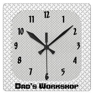 Dad's Workshop Square Wall Clocks