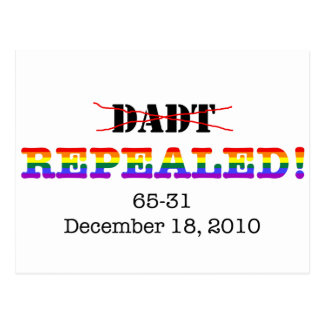 DADT Repealed! Postcard
