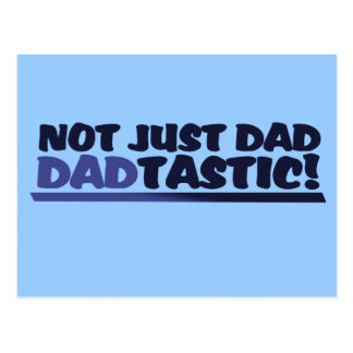 Dadtastic funny fathers day postcard