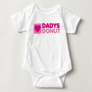 Dadys Donut baby creeper pink