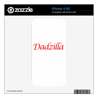 dadzilla decals for the iPhone 4S