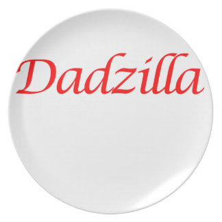 dadzilla melamine plate
