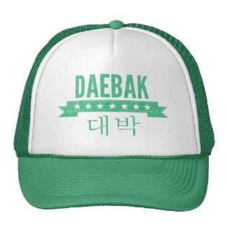 Daebak es coreano para impresionante, efecto del v gorros bordados