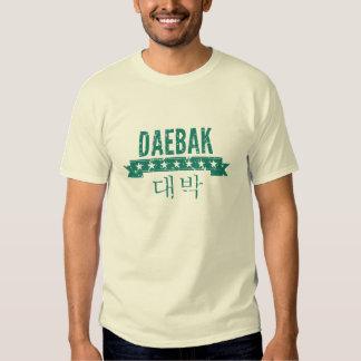 Daebak es coreano para impresionante (el Grunge) Playera