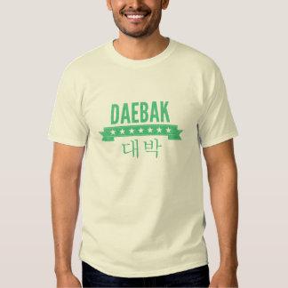 Daebak es coreano para impresionante, vintage playera
