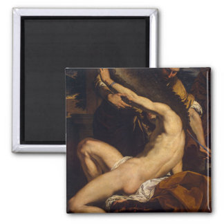 Daedalus and Icarus by Charles Le Brun 2 Inch Square Magnet