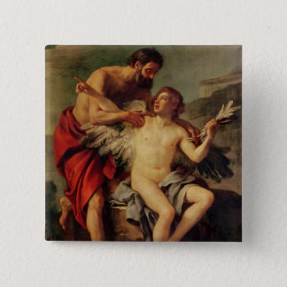 Daedalus Attaching Icarus' Wings, c.1754 Button