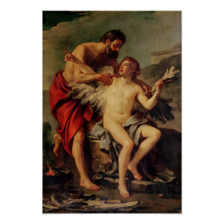 Daedalus Attaching Icarus' Wings, c.1754 Poster